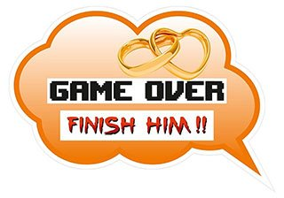 PLAQUINHA GAME OVER - FINISH HIM