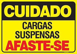 PLACA CARGAS SUSPENSAS AFASTE-SE